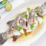 232 Steamed Sea Fish With Fresh Vegetables And Lemon Sauce