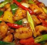 243 Roasted Chicken With Smoked Chili, Shallots, Garlic, Green Pepper And Spring Onions
