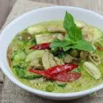 247 Fried In Green Curry, With Eggplant And Snake Beans In Coconut Milk