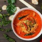 248 Fried in Red Curry, with Kaffir Leaves, Peanuts, Sweet Basil, In Coconut Milk