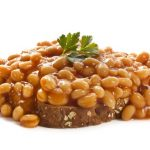 15 Beans with Sauce on Toast